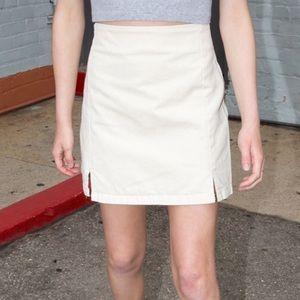 Brandy Melville Cara denim skirt cream